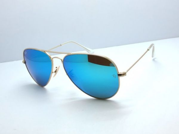 df4871f15c3d6 Ray Ban aviador espelhado lente azul - Matheus Multimarcas